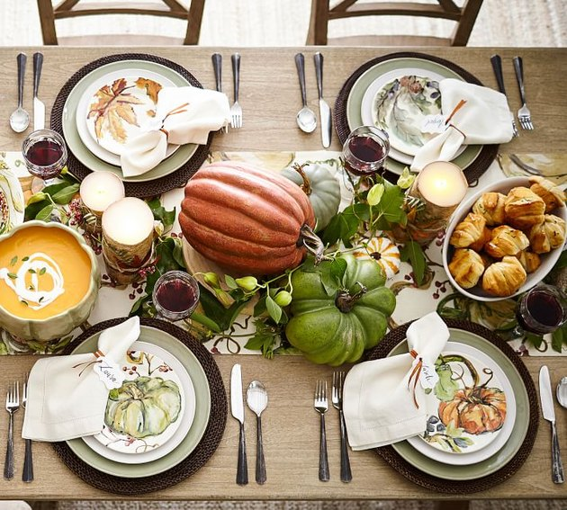 holiday feast place settings