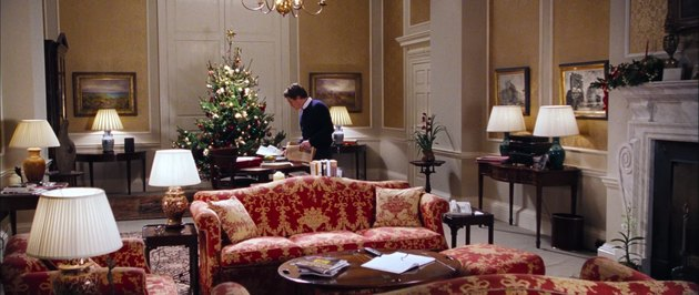the prime minister with christmas tree, still frame from love actually