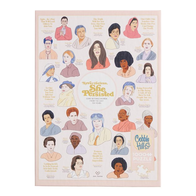 Nevertheless She Persisted Notable Women 1,000 Piece Puzzle, $19.99