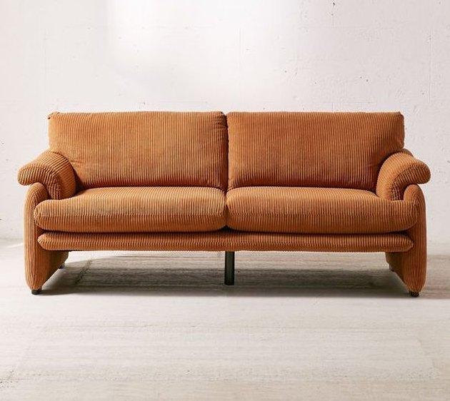 urban outfitters orange sofa