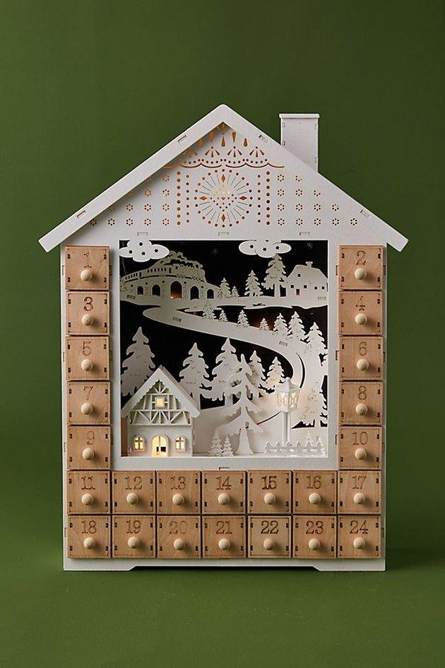 snowy house advent calendar