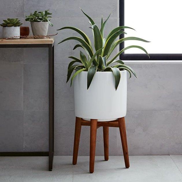 midcentury modern standing planter