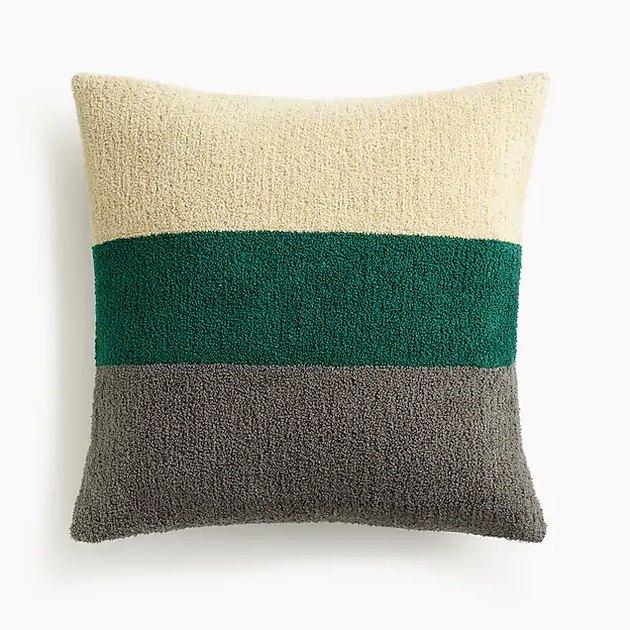 Bouclé rugby pillow