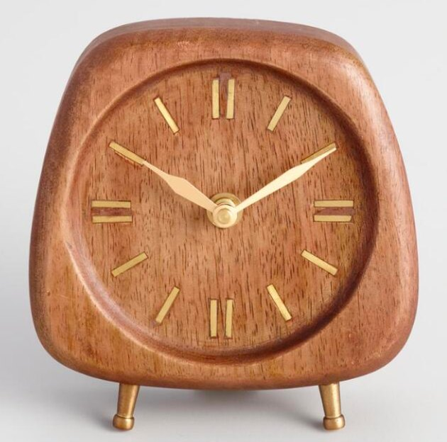 wooden midcentury modern clock