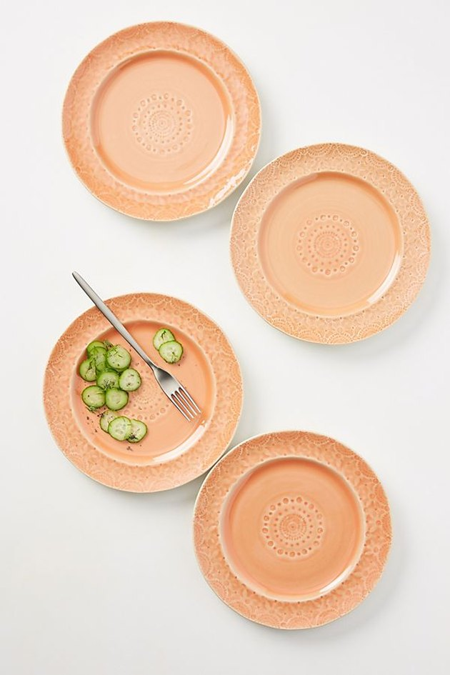 light orange side plates set