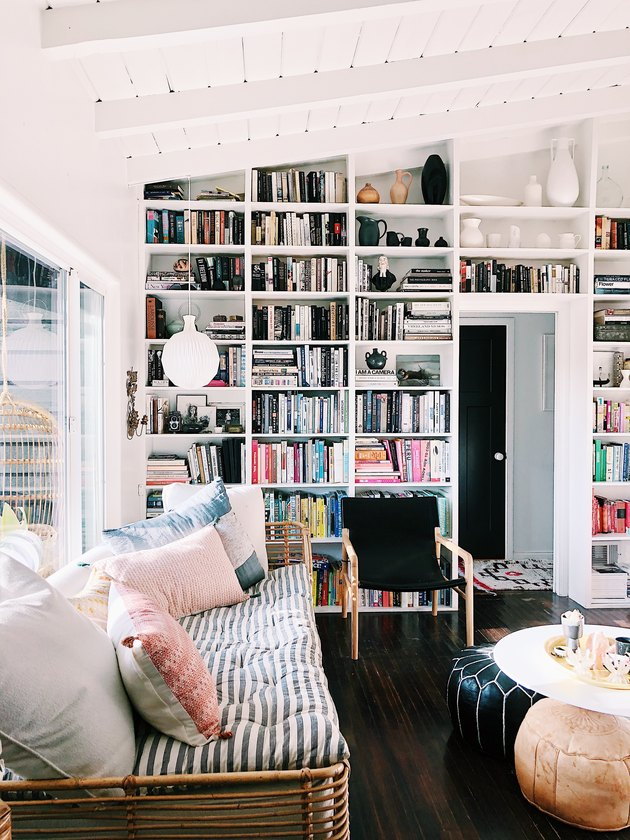 SF Girl by Bay Victoria Smith living room built-in bookcase