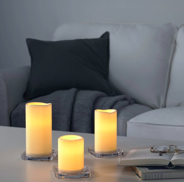 IKEA Godafton LED Candle Trio, $9.99
