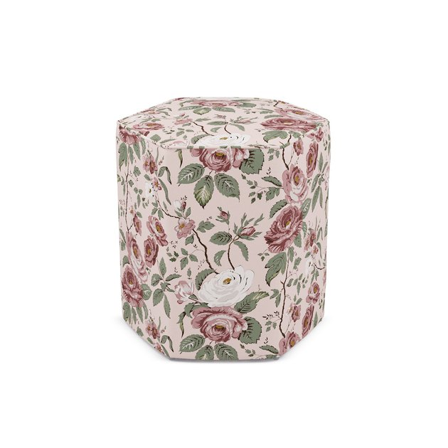 floral patterned ottoman