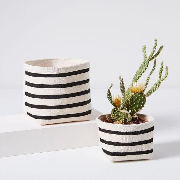 Gray Green Goods Canvas Planter