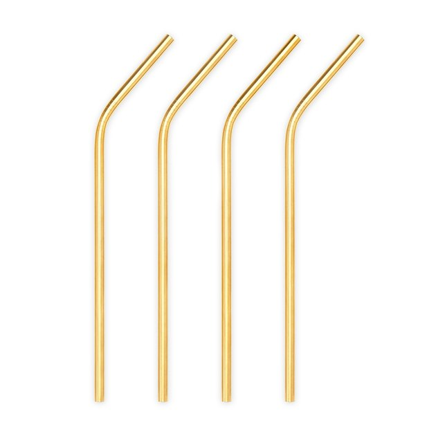Viski Gold Stainless Steel Straws