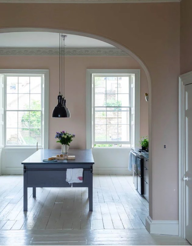 farrow & ball dead salmon paint color, still image of dining room