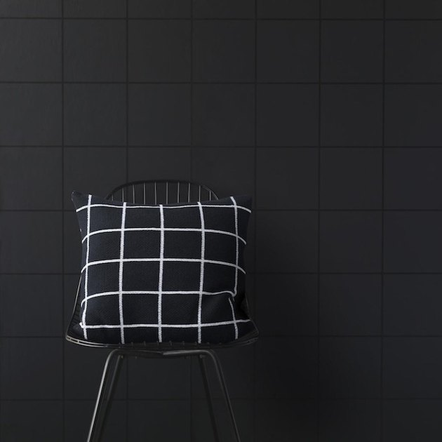 black grid wallpaper