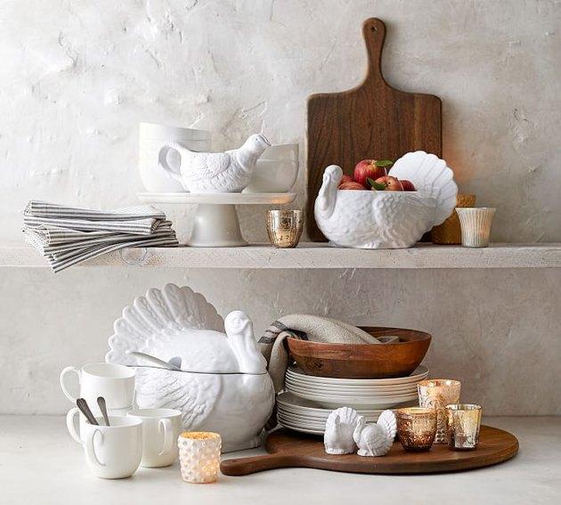 Thanksgiving Stoneware Turkey Serveware Collection