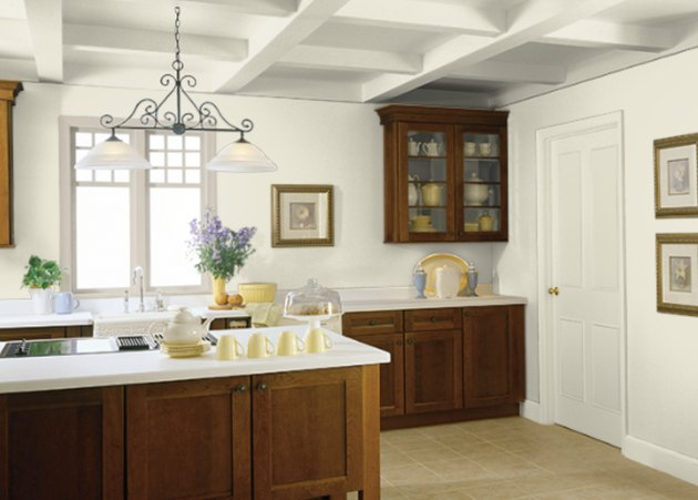 behr climate change paint color, still image of kitchen
