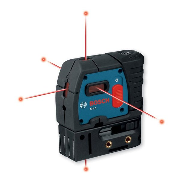 Five point laser level