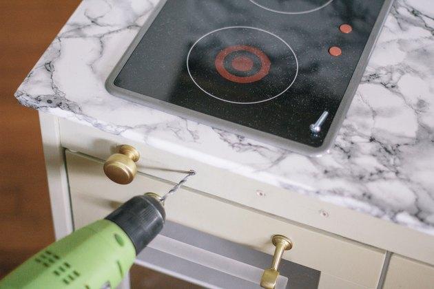 Perçage de trous pour boutons