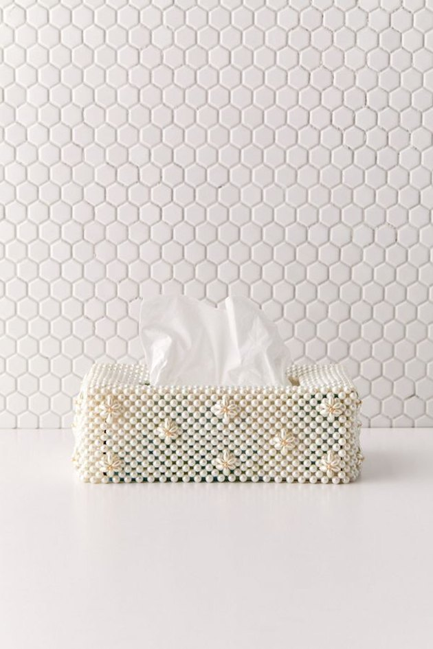 beaded tissue box