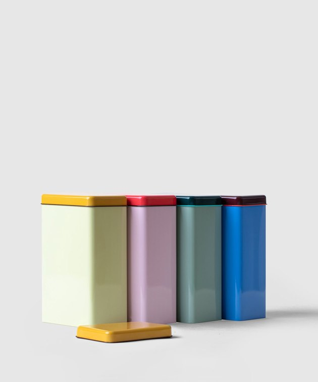 colorful tins