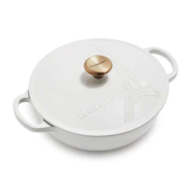 Le Creuset Eiffel Tower casserole in white