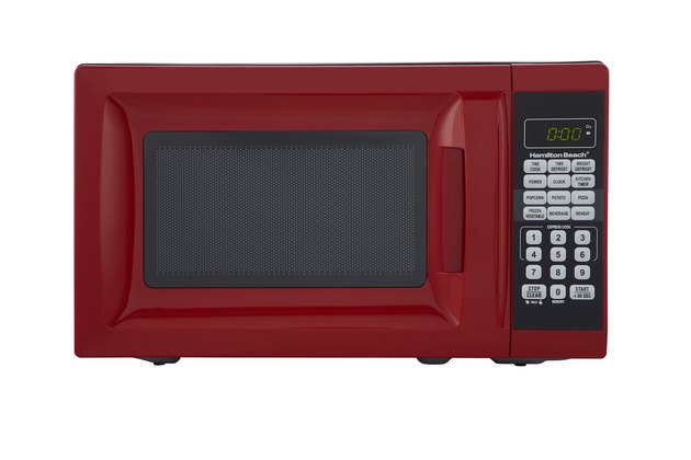 red Hamilton Beach microwave