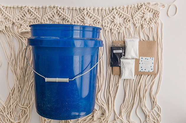 Here's what you'll need to dye your macrame wall hanging.