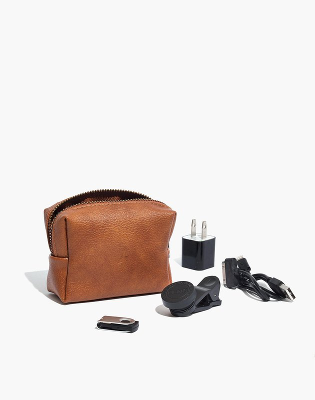 Tan leather tech kit