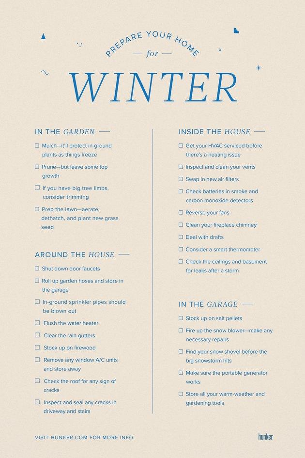 Prepare Your Home for Winter Checklist