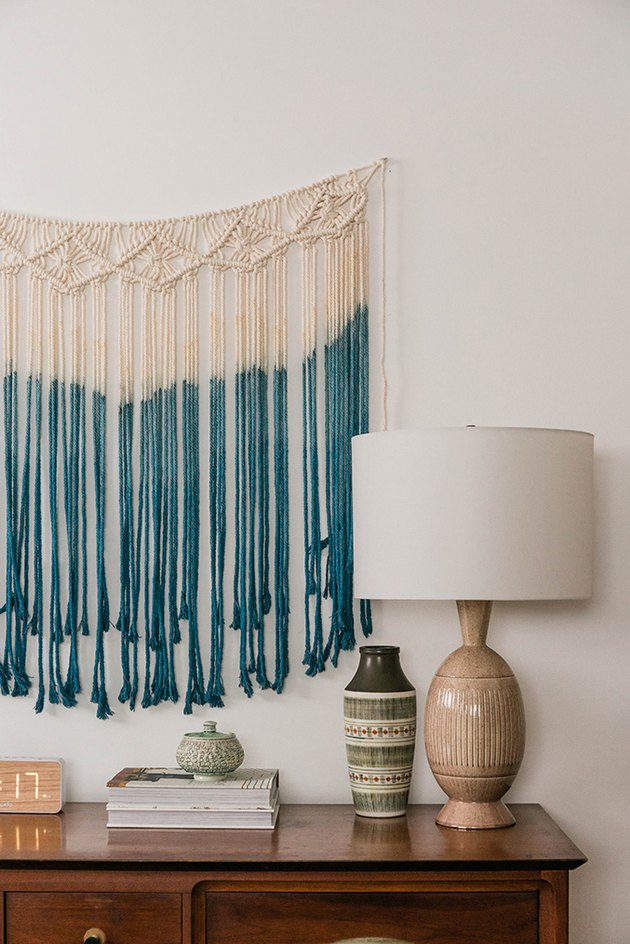 Our tutorial shows you how to make over a ready-made Amazon macrame wall hanging.