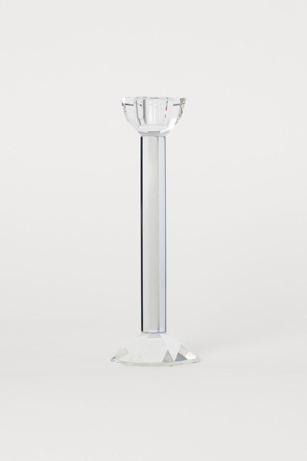 H&M Glass Candlestick