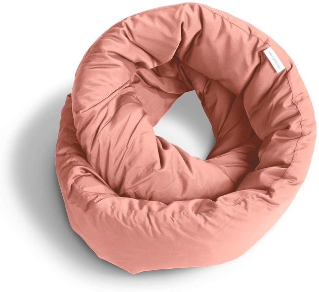 peach infinity travel pillow