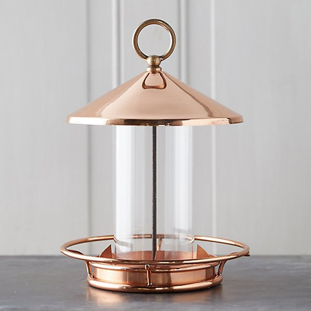 Terrain Short Solid Copper Bird Feeder