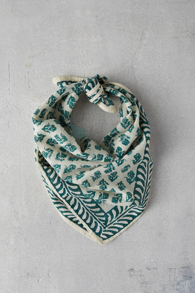 Anthropologie Cotton Block Print Bandana