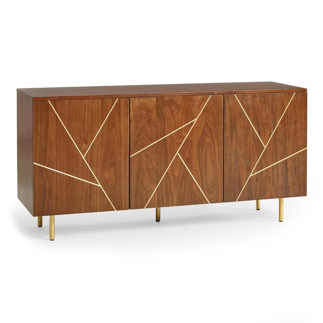 world market wood and metal cabinet