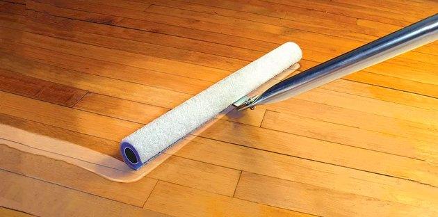T-bar floor finish applicator.