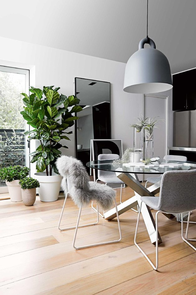 modern dining room with Scandinavian vibes