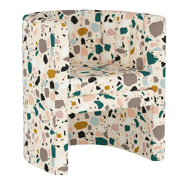 Brady Upholstered Tub Chair in Terrazzo Emerald
