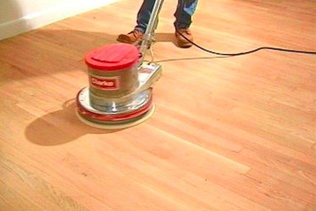 Floor buffing machine.