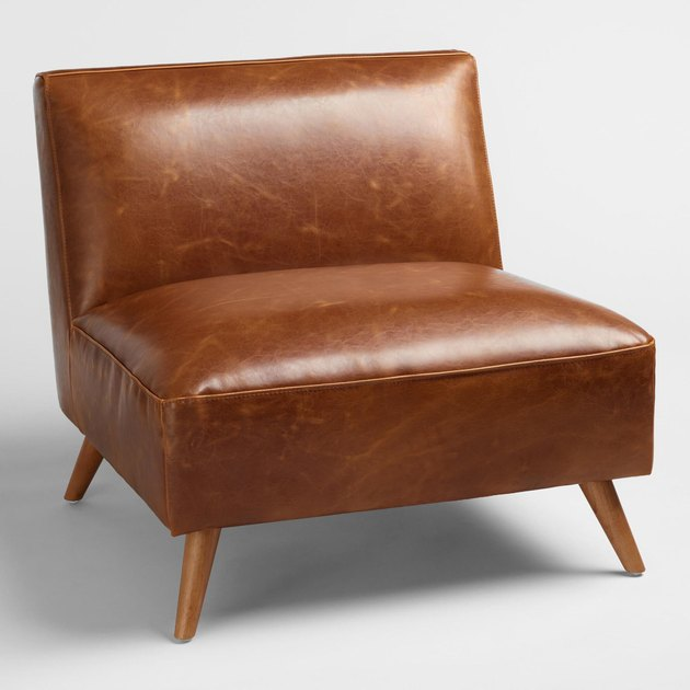 cognac midcentury chair