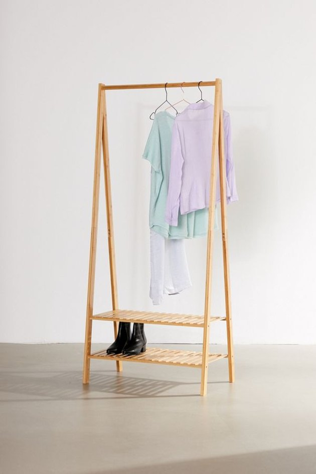 foldout clothing rack for extra storage