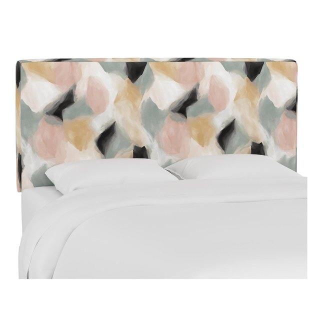 Abstract Shapes Cloud Loran Upholstered Headboard