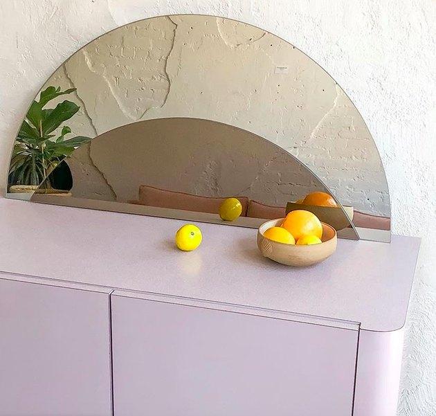 purple 80s dresser