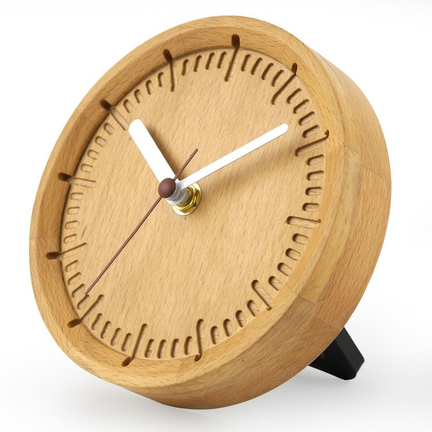 Project 62 Solid Beech Wood Clock, $9.99