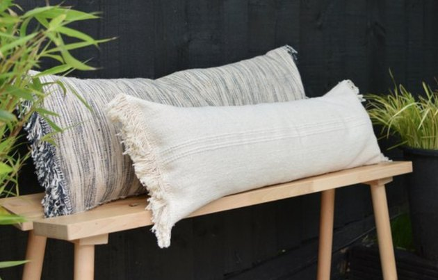 These rectangle pillows are an easy DIY decor project.
