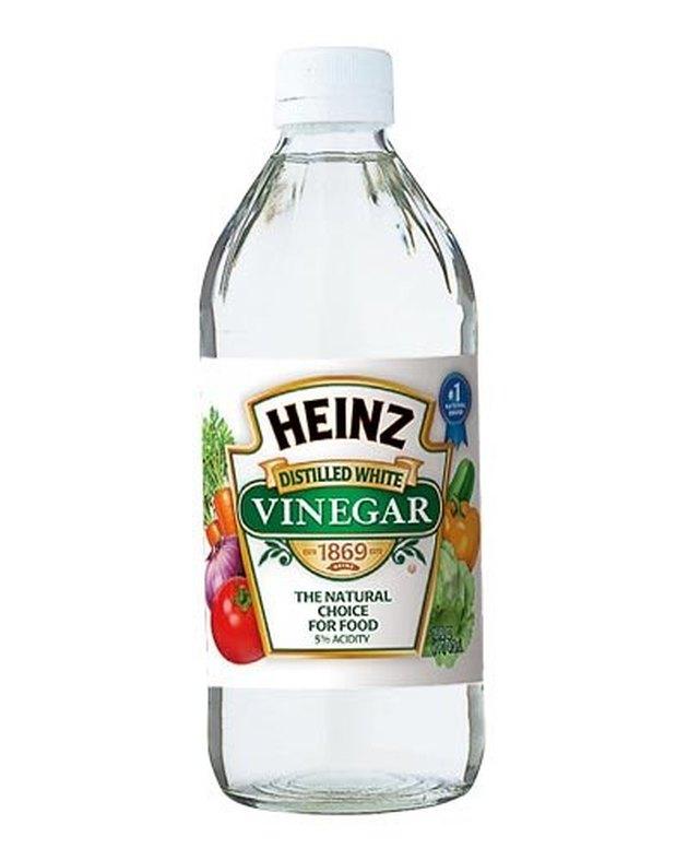 Bottle of white vinegar.