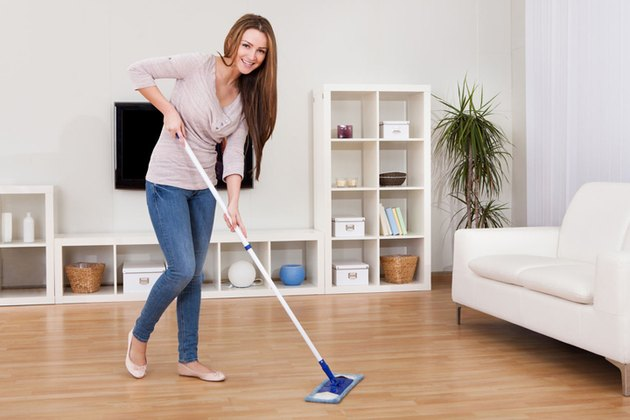 Mopping vinyl floor