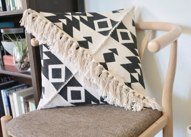 Adding fringe always makes a pillow's personality pop.