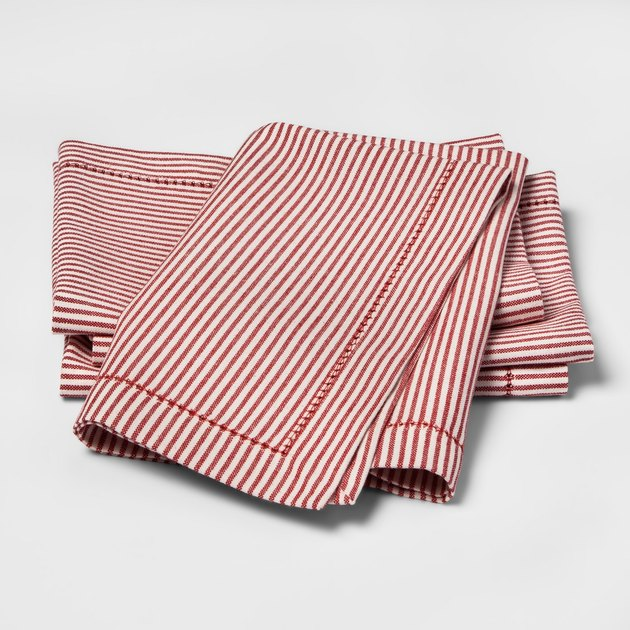 Threshold Candy Cane Stripe Napkins (set of four), $9.99