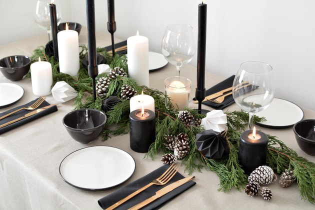 Scandinavian-style holiday table