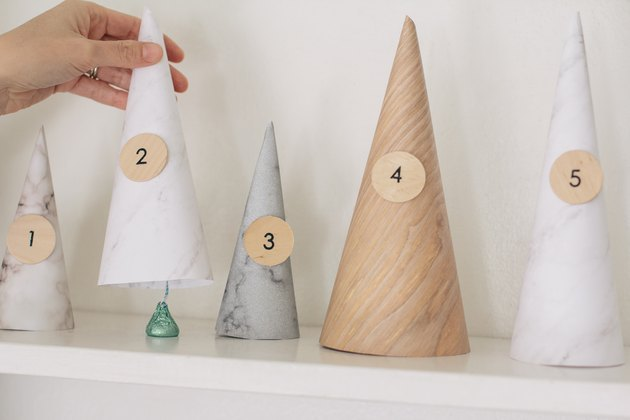 Paper tree advent calendar DIY