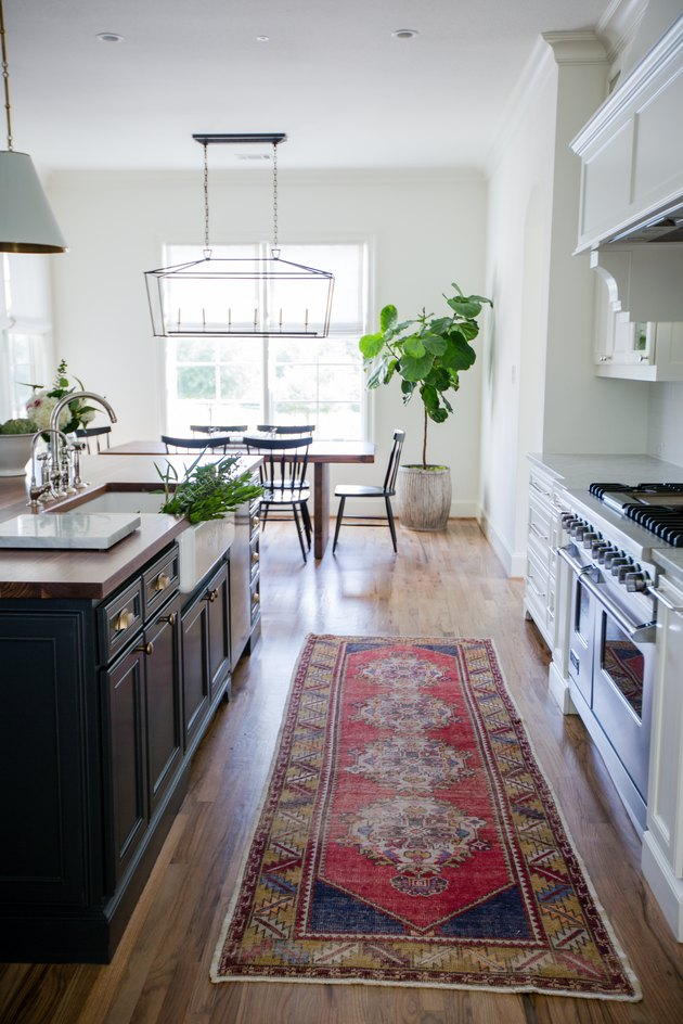 kitchen space with runner